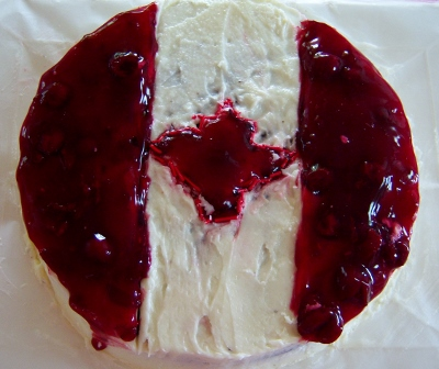 gluten free Canada Day cake