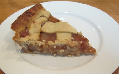 Pear Pie, adapted from the apple pie in Artisanal Gluten-Free Cooking.