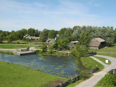 View of an Upper Canada Village farm, from the Signal House