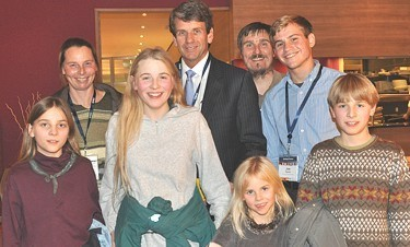 Mike Farris of HSLDA meets with the Wunderlich family in October, 2012.
