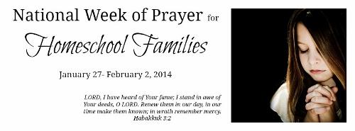 Week of Prayer for Homeschoolers