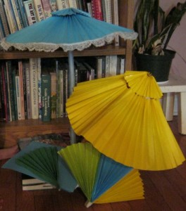 Figuring out how to make paper parasols