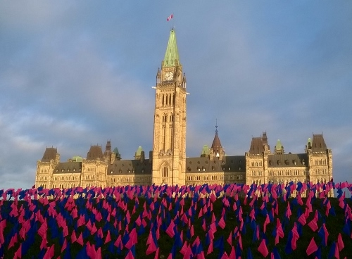 Parliament Buildings and Missing Baby Flags