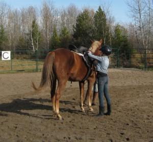 Miss 12 enjoying the gift of a horseback riding lesson.
