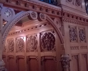Woodwork in the library of the Canadian Parliament